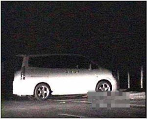 車両ライトで夜間撮影~海岸編~