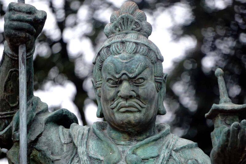 七福神の1人である毘沙門天(びしゃもんてん)を紹介