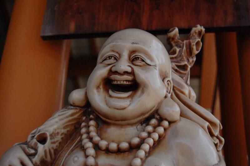 七福神の1人である布袋尊(ほていそん)を紹介