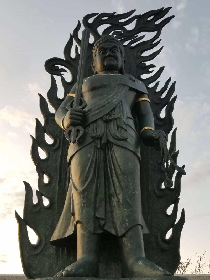 千葉県山武郡横芝光町の成田山御本尊上陸の地不動明王像